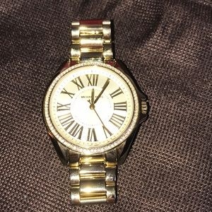 Michael Kors gold crystal watch Roman numerals